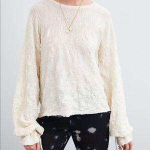 NWT'S Zara Wrinkled Fabric Top Off White Medium